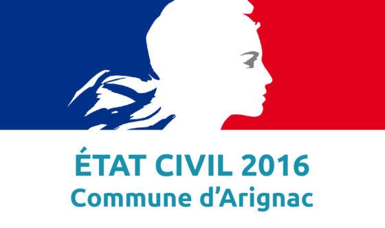État civil 2016