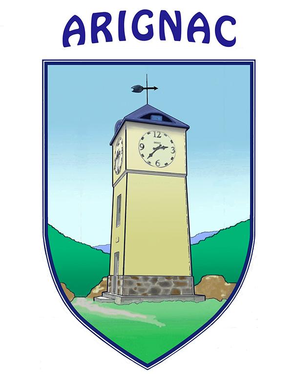 Écusson de la communce d'Arignac, Ariège, Occitanie