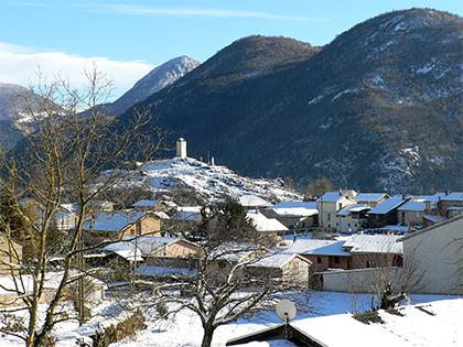 Arignac sous la neige - Commune d'Arignac Ariège (09)
