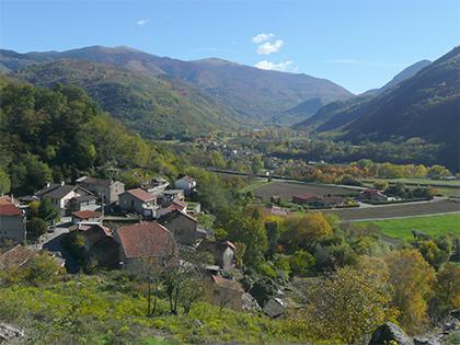 Vue de la vallée - Commune d'Arignac Ariège (09)