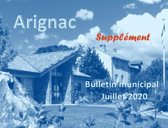 Supplément du Bulletin municipal de Juillet 2020